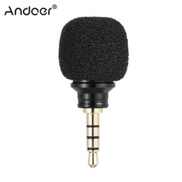 Wholesale iphone5 mic - Wholesale-Andoer Cellphone Smartphone Portable Mini Omni-Directional Mic Microphone for Recorder for iPad Apple iPhone5 6s 6 Plus