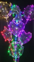 2019 crianças parede luz lâmpada atacado 2018 Luminous Unicom Bobo Balões LEVOU Balão de Luz de 18 polegada Balões Para Festa de Casamento Festival Luminosa Decorações Brinquedos Grátis expressar