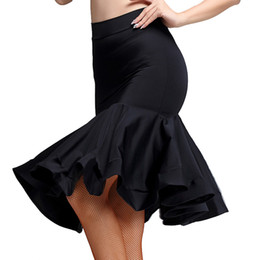 9961d8541 New fashion Knee-high sexy Latin Dance Skirt for Woman female girl lady,  Ballroom costume Practice dress performance wear MD6308