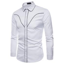 winterhemden design für männer Rabatt Europäische und amerikanische Männer Herbst und Winter Modelle Normallack-Mode-Design Herren Langarm-Revers Hemd