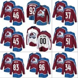 Wholesale Nails Beige - #96 Mikko Rantanen 2017-18 New Season Colorado Avalanche Jersey 37 J.T. Compher 64 Nail Yakupov 92 Gabriel Landeskog Custom Hockey Jerseys