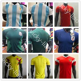 Wholesale Messi Football Player - player version Spain Argentina messi Japan Colombia Russia Mexico CHICHARITO Soccer Jerseys 2018 world cup Home Away Shirt Football Kit