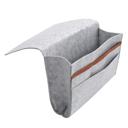 Wholesale Fabric Table Clothes - Bed Storage Pockets Felt Bedside Hanging Storage Organizer Holder Mulit-Pockets for Bed Table Sofa Drop Shipping VT0778