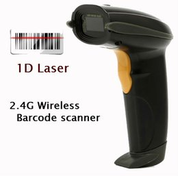 Wholesale Portable Barcode Readers - Wholesale- Multi-language Portable 2.4G Wireless USB Laser Barcode Scanner BarCode Reader for Supermarket Bank Warehouse Logistics