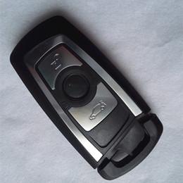 série chave esperta do bmw Desconto 3 Botão Inteligente Remoto Chave Shell para BMW 3 5 Novo 7 Série F Série X1 X3 X5 Substituição FOB Chave Caso Blanks + chave inteligente lâmina