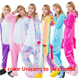 Wholesale Xxl Pajamas Men - 2017 New 7 Color Choose Unicorn Adults Onesie Pajama + Shoes Unisex Unicornio Pajamas Pegasus Sleepwear Anime Cosplay Costumes
