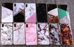 Wholesale Paint For Stone - New Scrub Marble Stone image Painted Soft TPU Case for iphone X 7 5 5s SE 6 6s 6Plus 7plus 8 8plus Silicone Case