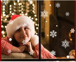 2019 виниловый виниловый винил 45*60 см Новый Рождество декоративные наклейки окна наклейки съемный DIY Xmas стекло стены стикеры Счастливого Рождества Снежинка стикер