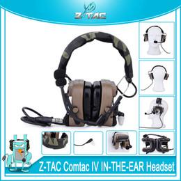 Z-TAC тактический ZCOMTAC IV в ухо гарнитура CIV шумоподавления охота наушники открытый связи Softair C4 микрофон наушники от