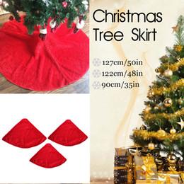 Evento tappeto rosso online-1PC Red Christmas Tree Skirt Carpet Party Ornaments Decorazione natalizia Anno nuovo Outdoor Decor Event Party Gonna Albero
