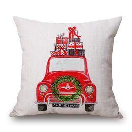 La mode moderne et la simplicité d'approvisionnement outre-mer sont spécialement conçues pour les coussins de canapé et les tissus en lin pour motifs de Noël. ? partir de fabricateur