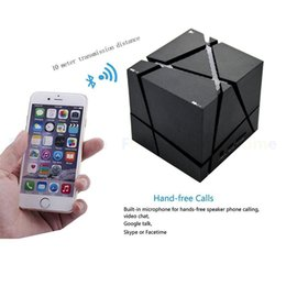 Wholesale Mini Hifi Usb Mp3 - Q One Portable HIFI Bluetooth Speaker LED Magic Cube Stereo Speakers Bass Caixa Sound Box Hand Free for iPhones bet boombox
