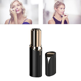 choose lipstick Promo Codes - HR006 Lipstick women Facial Hair Remover Face Hair Removal Epilator Painless 18K Gold Plated Remover 4 colors to choose Free Shipping