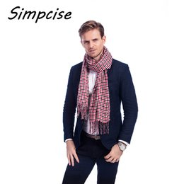 bufanda para hombre a cuadros Rebajas  Simpcise  2017 nuevos hombres  calientes de lana suave 3fee2dd7711