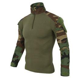 Wholesale men s military uniform - Tactics Military sport Army Uniform Camouflage Combat Knee elbow protection top Pant Rapid Assault Long Sleeve Shirt suit