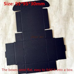 Wholesale Handmade Cardboard Box - Wholesale- 100pcs lot-9.5*9.5*3cm Black Aircraft Cardboard Boxes, Handmade Gift  Jewelry  Snack Packing Boxes