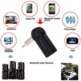 Wholesale Audio Autos - Handsfree Bluetooth 3.0 Car Kit Wireless 3.5mm Streaming A2DP Car Auto Audio Music Receiver Video Player Function Microphone USB