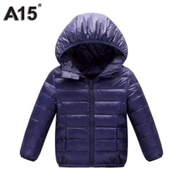 Wholesale Jackets For Infants Boys - A15 Kids Winter Jacket for Girl 2017 Infant Toddler Boy Jacket Teens Clothes Children Warm Outerwear Coat Age 3 10 12 14 16 Year