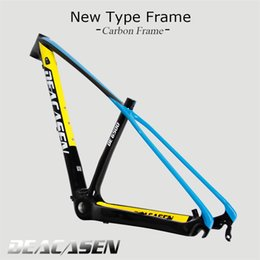 Wholesale mountain bike 29er wheels - Deacasen Carbon mtb Frame 29er matte glossy 15 17 19 inch full sus bike frame Hubs and 29er Wheels