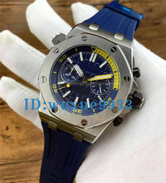 Wholesale Mens Offshore Watch - Luxury Brand silver Blue Sports AAA Mens Watch Chronograph Stopwatch Royal Oak Offshore Limited Edition Lebron James Men Watches Wristwatch