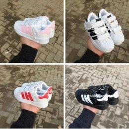 Wholesale shoes size 25 - Promotions Hot Sale 2018 classic 5color children's casual shoes Comfortable boys shoes girls sports shoes size 25-35 17.5cm -22.5cm