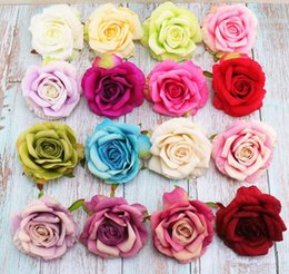 diy rose cloth Promo Codes - Silk Rose Artificial Flower DIY Mini Rose Cloth Fake Flower For Wedding Party Home Room Decoration