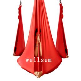 Yoga Flying Swing Anti-Gravity Tessuto per amaca yoga Dispositivo di trazione aerea Amaca Equipaggiamento per modellare il corpo del Pilates da