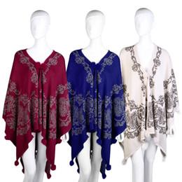 winterschaukel Rabatt Frauen Schal Tassel Cape Strickjacke Winter Herbst  Decke Capes Printed Vintage Poncho Umhang Long 203256467a