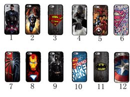 Wholesale Iphone 5s Captain America Case - Marvel Avengers Superman Soft Case TPU Cover for iPhone X 5 5s 6 6s 7 8 Plus Batman Dark Knight Spider Ironman Captain America Shield