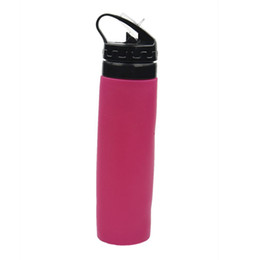 Wholesale Sport Children Water Bottle - Eco Squeeze Sports Drink Gym Bottle Straw Water Hydration No BPA Silicone