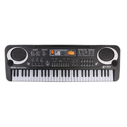 Wholesale Electronic Organ Keyboards - 61 Keys Music Electronic Digital Keyboard Electric Organ Children Great Gifts With Microphone Musical Instrument Top Quality