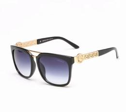 Солнцезащитные очки для корабля онлайн-Бесплатная доставка мода люксовый бренд доказательства солнцезащитные очки ретро старинные мужчины Марка дизайнер блестящий золотой раме лазерный логотип женщины высокое качество 3871