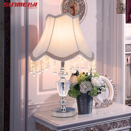 Lights & Lighting Cheap Price Modern K9 Crystal Table Lamps For Home Bedside Bedroom Silver Gold Night Light With Free E27 Led Bulb Led Lamps