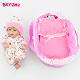 Wholesale Realistic Silicone Baby Doll - KAYDORA 10 inch 28cm Full Body Vinyl Silicone Reborn Baby Dolls Lifelike Mini Real Dolls Small Realistic Bebe Reborn Babies Toys