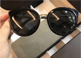Wholesale Resin Counter - 0458 Sunglasses Luxury Popular Women Brand Designer Counter Cat Eye Shape Retro Vintage UV Protection Top Quality Sunglasses Come With Case