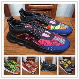 Reacción en cadena Zapatillas de deporte Zapatillas de deporte Hombre Mujer Zapatillas de deporte Ligeras ligadas con cordones Suela de goma Zapatos Diseñador de marca de lujo Zapato 2 Cadenas Zapatillas de deporte desde fabricantes