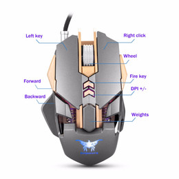 Wholesale Gaming Mouse Lights - COMBATERWING - Cored Gaming Mouse Mice 7 Buttons 3200 DPI 4 Color Breathing LED Light Ergonomic Wired Mouse Souris For Gamer
