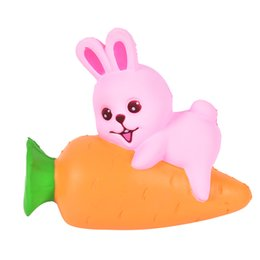 Wholesale Squishy Bunny - Carrot Rabbit Squishy Slow Rising Jumbo Bunny Anti Stress Soft Squeeze Scented Cake Bread Straps Fun Kid Toy Gift