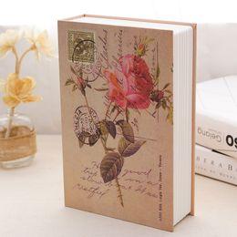 Libros grandes online-2017 caliente diseño retro Diseño Caja de dinero segura Diccionario de simulación Caja de almacenamiento de libros Regalo cajas de privacidad Clave de cifrado grande