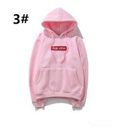 6c5b341bc53f7 ... Mujeres Sup Sweatershirt Con Logo Box Pullover Hip Hop de manga larga  Justin Bieber Desgaste al aire libre Off Athletic Clothing Blanco Venta  barata