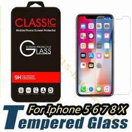 Wholesale Iphone Protect Film - Tempered Glass For iPhone X 6 7 8 Screen Protector Protect Film For Htc samsung s6 s7 s8 s9 High Quality Retail box