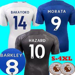 Wholesale Best David - Best Thailand 2017 2018 Soccer Jerseys Barkley HAZARD Morata KANTE FABREGAS Rudiger PEDRO Shirts 17 18 BAKAYOKO DAVID LUIZ Football Shirts