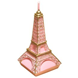Wholesale Romantic Birthday Cakes - Wedding Birthday Candles Romantic Valentine 'S Day Confession To Marry Wedding Creative Eiffel Tower Candle Gift Pink Silver