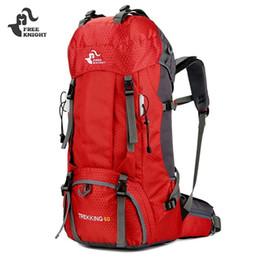 Свободные рыцарские рюкзаки онлайн-FREE KNIGHT 50L / 60L Открытый Рюкзак Кемпинг Альпинистские Сумки Туризм Рюкзак Для Путешествий Нейлон Водонепроницаемый Большая Спортивная Сумка