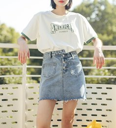 Wholesale Korean Beautiful Dresses - 2018 new female short sleeved white T-shirt dress tide of spring and summer students loose all-match Korean ulzzang casual fashion beautiful