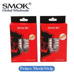 Wholesale atomizer mesh - Authentic Smok TFV12 Prince Coil V12 Prince Q4 X6 M4 T10 Mesh Strip 0.15ohm Vape Core Atomizer Heads 100% Original Smoktech