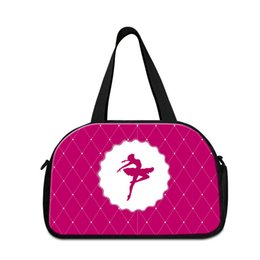 Wholesale Nice Bags For Girls - Ladies Luggage Bags Art Travel Purses for Women Girly Tote Gym Bag Ballet Printed Travel Toiletry Bag Nice Weekend Trolley Bag Duffel Bags