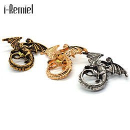 Wholesale dragons blood - 2017 Juego De Tronos Brooches Corsage Brooch Men's Suits Animal Collar Pin Buckle. Domineering Dragon Blood For Brothers Buckle
