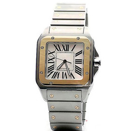 Wholesale face cars - Limited quantity Car Sans series W200728G wrist mens watch automatic movement white face 316L steel original strap watch men