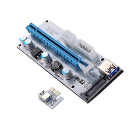 Wholesale Ide Data Cables - PCI-E PCI Express Riser Card 1x to 16x USB 3.0 Data Cable IDE Molex Power Supply for BTC Miner Machine
